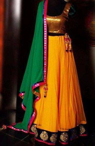 Beautiful Yellow Lehenga Bollywood Styles | Veeshack Shop