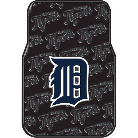 MLB Detriot Tigers Floor Mats, Set of 2, Multicolor