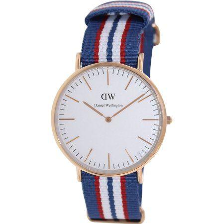 Daniel Wellington Men's Belfast 0113DW Multicolor Nylon Quartz Watch with White Dial