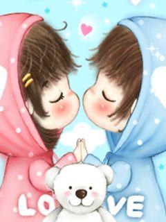 Những hình ảnh hoạt hình dễ thương về tình yêu