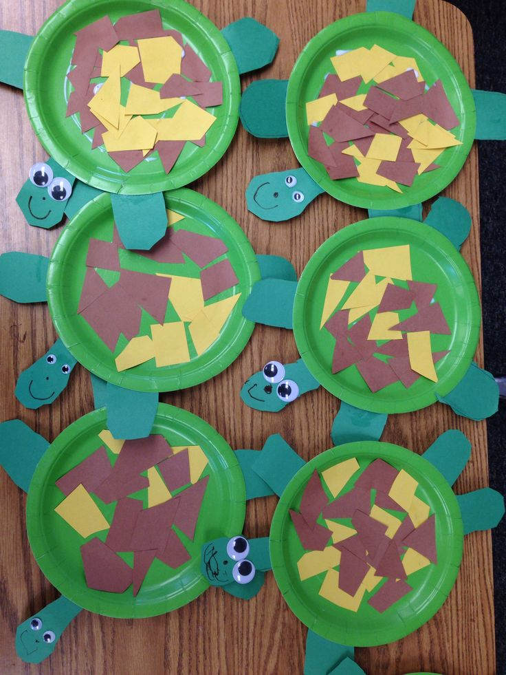 Preschool crafts for beach or summer theme. All you need are paper plates, construction paper, googily eyes, and some glue