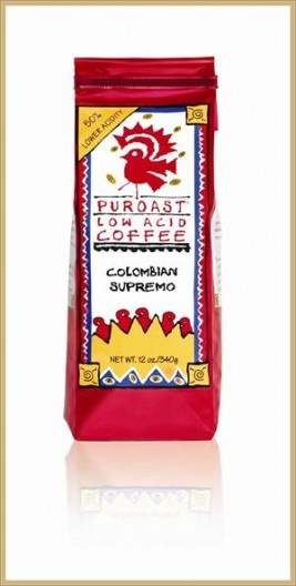 Puroast Low Acid Colombian Coffee