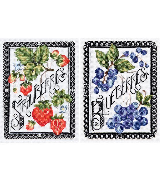 Janlynn Counted Cross Stitch Kit Blackwork Berries