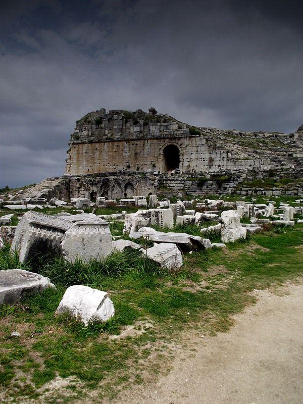 Ancient Ruins of Miletos on Aegean Coast of Turkey