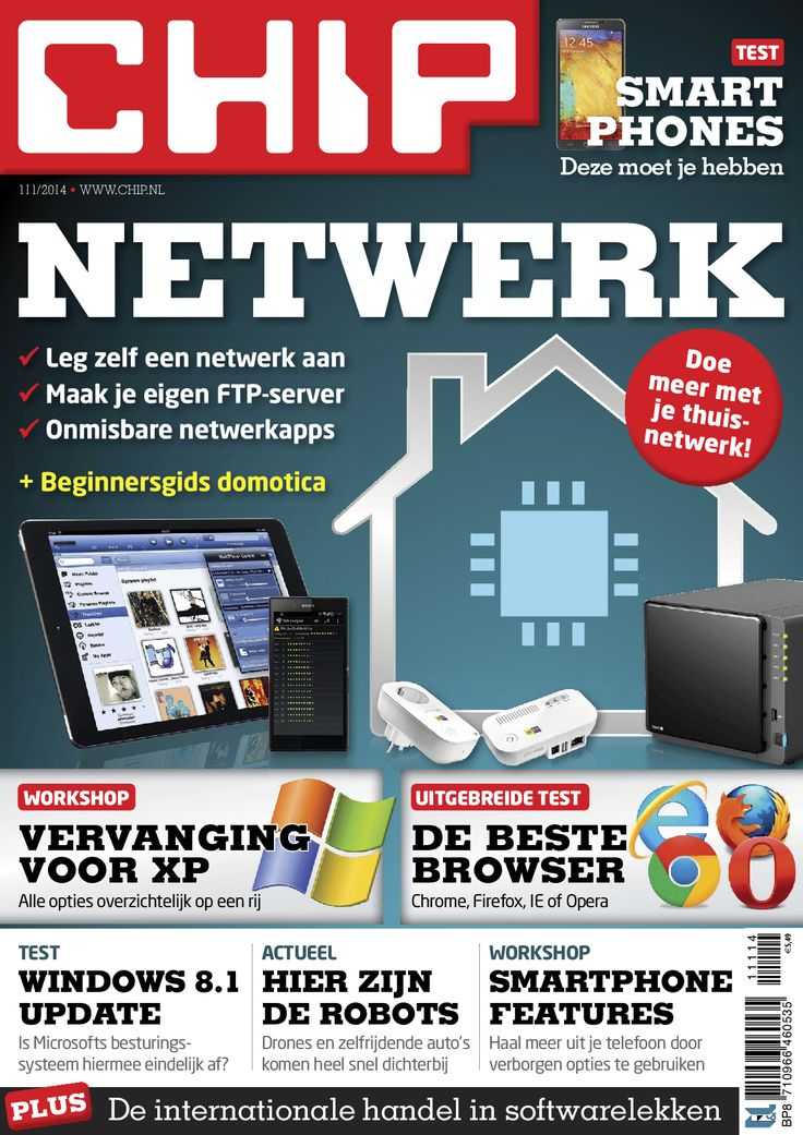 Met een goed thuisnetwerk kun je niet alleen media streamen en bestanden delen, maar nog veel meer! Je leest erover in #CHIP 111. Dit tijdschrift is als eMagazine voor tablet verkrijgbaar via de #BrunaTablisto app. #computer #software