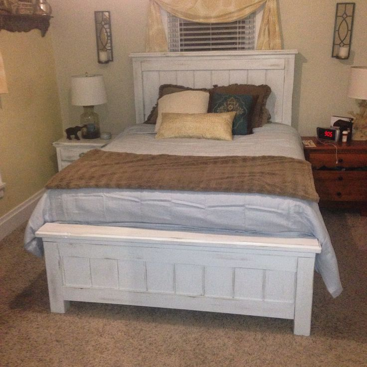 Ana White | Queen Size Farmhouse Bed with Storage - DIY Projects