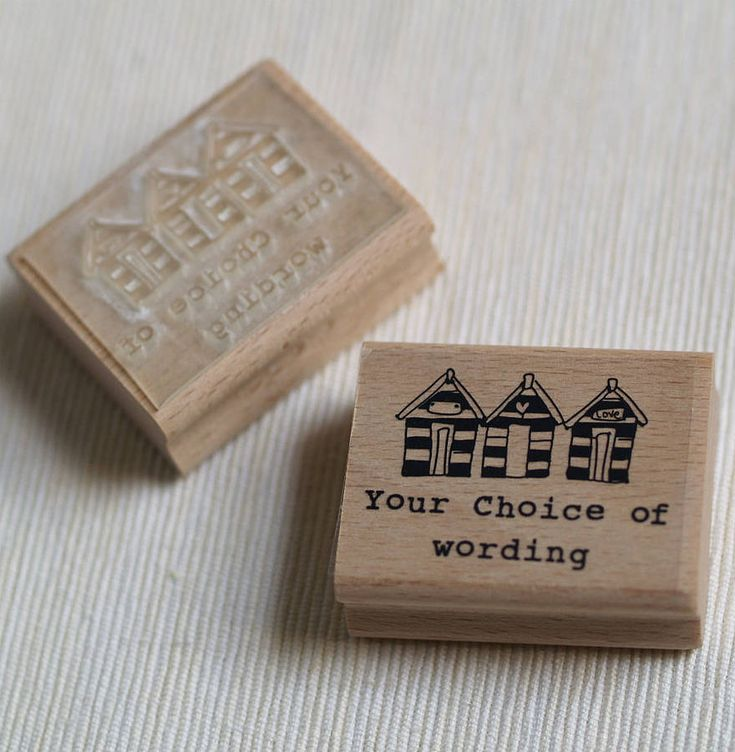 beach huts personalised rubber stamp by pretty rubber stamps | notonthehighstreet.com