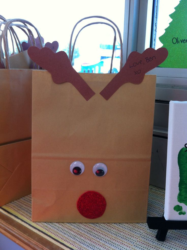 Christmas bags for parents gift at school