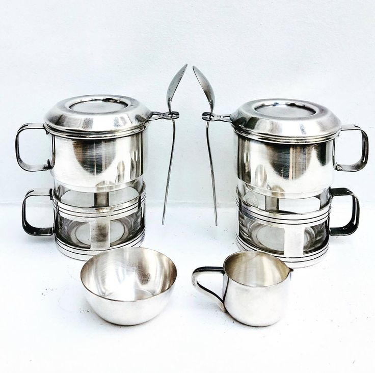 2 vintage french coffee makers Art Deco, single cup coffee filter french coffee filter single cup coffee maker silver plated french vintage. Single Cup Coffee Makers . Set of Two . Coffee Drip o Lator . One Cup Coffee Filter . Vintage Drip-O-Lator . Dripolator . Coffee Makers . A lovely set of 2 single cup coffee makers,marked Cornet 48 and a sugar pot and creamer marked Argenta.