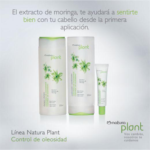 ¿Sabías que el extracto de moringa equilibra la oleosidad del cuero cabelludo, dejando el cabello limpio y perfumado?  ¡Conocé nuestra línea Natura Plant que le dará vida y suavidad a tu cabello!