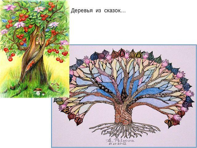 "Мастер-класс ""Графика. Сказочное дерево"". Презентация ""Сказочное дерево""( 1 класс)"