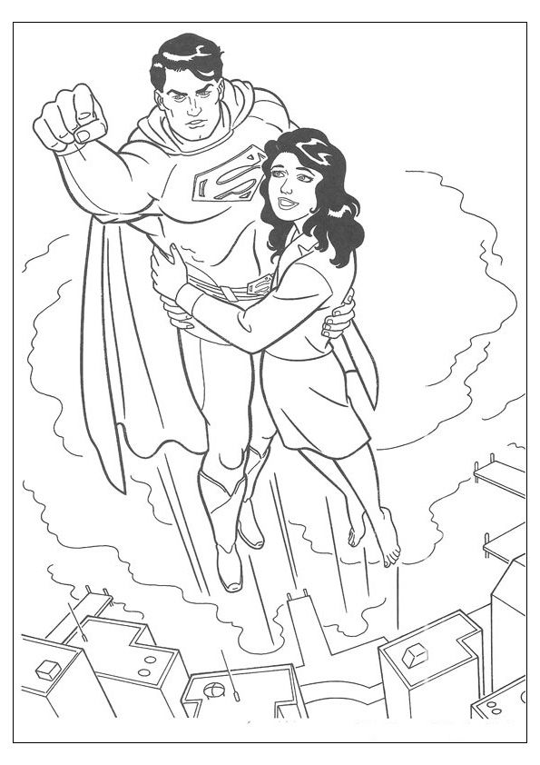 Coloring Page Superman Superman Coloring Pages Superhero Coloring Pages Superhero Coloring