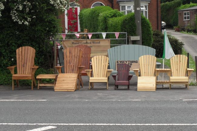 Hi Phil,  Have a look at what I've been doing in the UK with your chair plans. You're absolutely right about the Grandad chair, that seems to be what people want. You have a great product for guys like me who are trying to start up a new business and bring a little bit of Canada to the UK. My next project is the rocking chair, I ordered the templates and plans from you on E-bay.  Kind Regards, James
