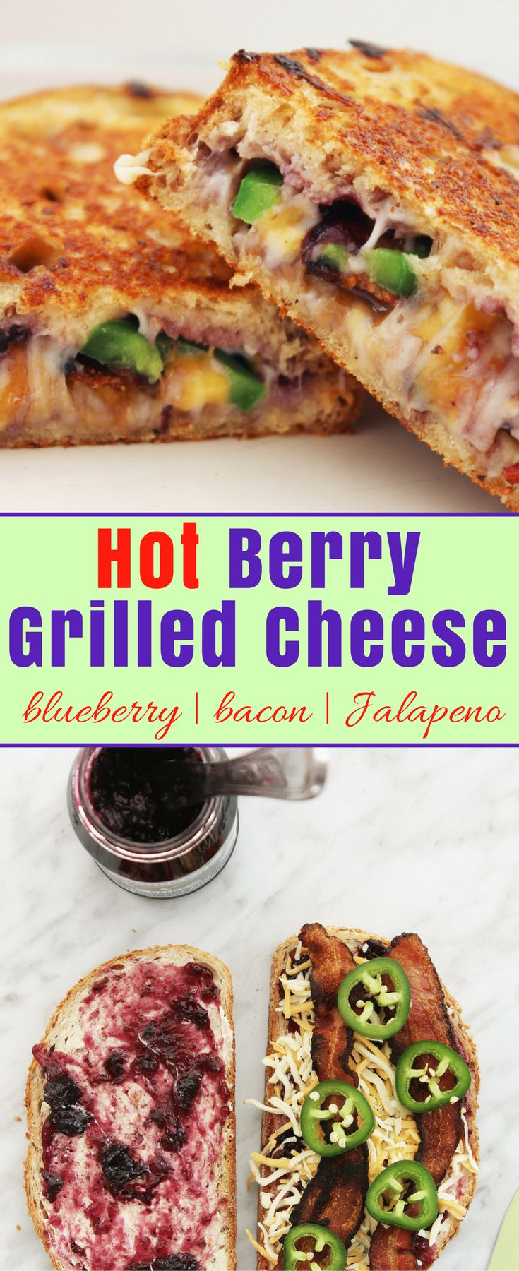 My Hot Berry Blueberry Grilled Cheese is quick and…