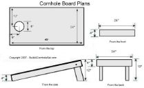 Cornhole Bean Bag Board Plan Dimensions, going to add a cup holder in the back and bottom!