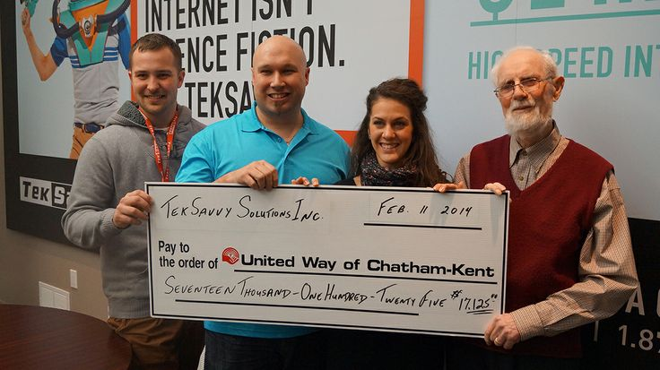 TekSavvy shares the love just in time for #ValentinesDay by donating $17 125 to the United Way of Chatham-Kent