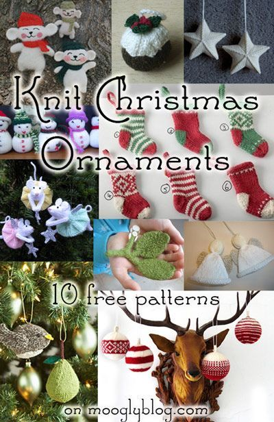 Here's a list is for the knitters! Knit Christmas Ornament Patterns are quick, satisfying projects, great for small gifts and present toppers!