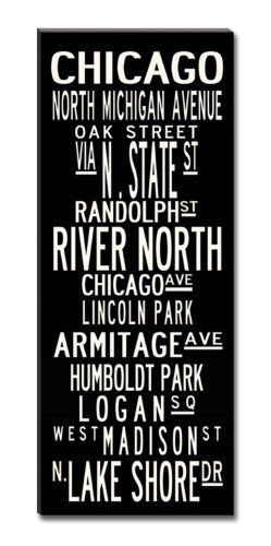 Chicago Subway Sign Canvas Wall Art