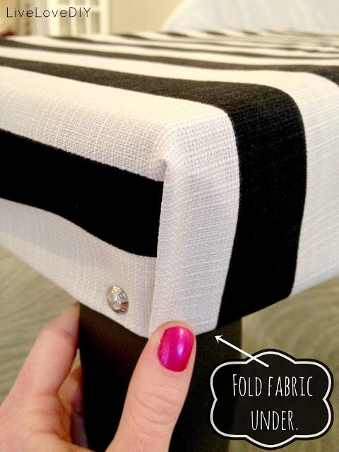 how to upholster a bench // so cute for the foot of the bed