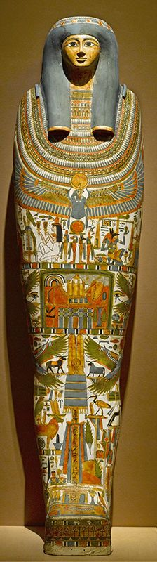 Cartonnage and Mummy of Gautseshenu. Egypt, probably from Thebes. Third Intermediate Period, Dynasties 25 to 26, circa 700–650 BC.