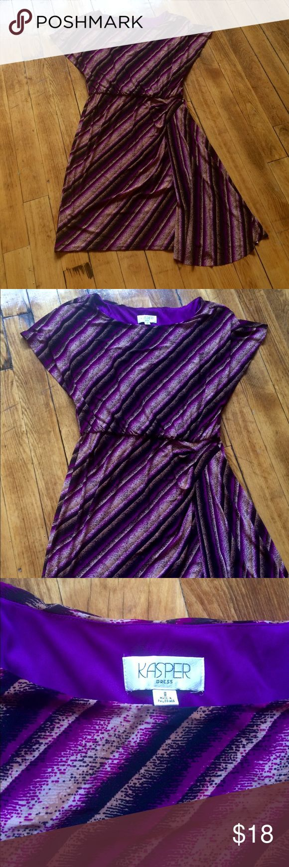 Perfect summer work dress Purple work dress, Kasper brand size 8 Kasper Dresses Midi