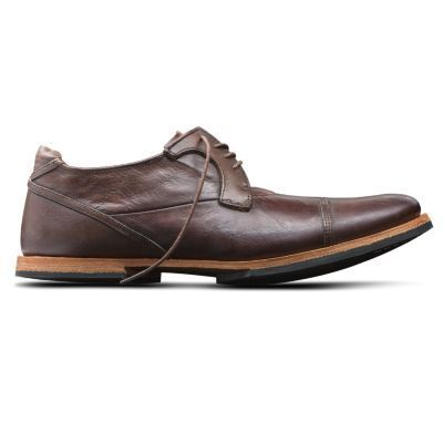Men's Timberland Boot Company Wodehouse Cap Toe Oxford Shoes Burnished Dark Brown