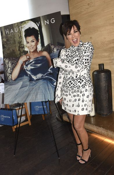Kris Jenner Print Dress - Kris Jenner Looks - StyleBistro
