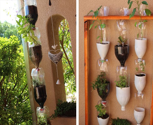 Recycled plastic bottles made into planters diy must for Diy recycled plastic bottles