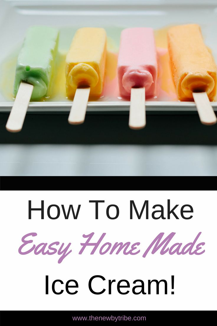 How to make easy home made ice cream without any fussy equipment or specialist knowledge!
