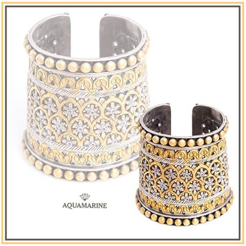 Don this very interesting cuff with any outfit to create a unique look. Available at aquamarine.