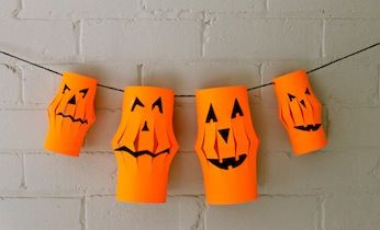 Looking for easy Halloween ideas and craft projects for kids to make for Halloween? Try these spooky paper lanterns for a great Halloween decoration.