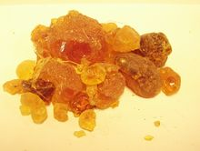Gum arabic - Gum arabic is a key ingredient in traditional lithography and is used in printing, paint production, glue, cosmetics and various industrial applications, including viscosity control in inks and in textile industries, although less expensive materials compete with it for many of these roles.