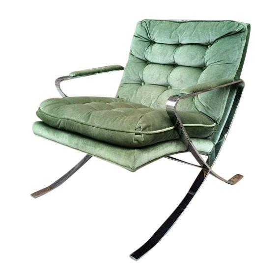 Znalezione obrazy dla zapytania Bernhardt chrome chair