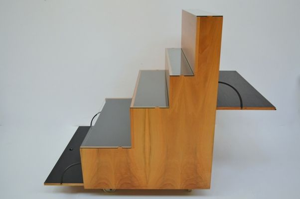 Furniture container mod. Rampa, des. Achille Castiglioni for Berbini 1963, flap for writing