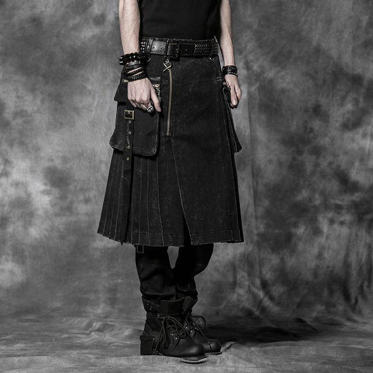 Aliexpress.com: Comprar Nueva Punk Rave Kera Emo Gothic Rock Para Hombre de Moda Pantalones de La Falda de Carga L XL XXL 3XL de Pantalones casuales fiable proveedores en Punk Rave Store