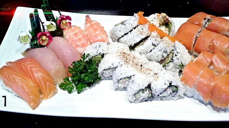1 party tray A with extra Alaska roll Hana Sushi