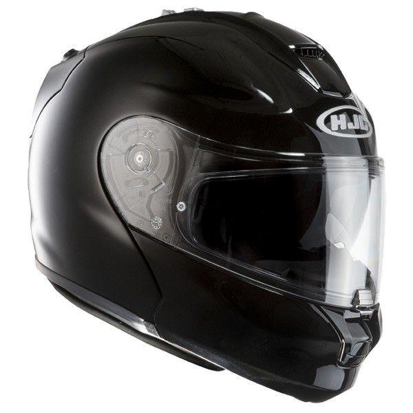 Casco moto modulare nero lucido HJC RPHA MAX Evo Metal / BLACK