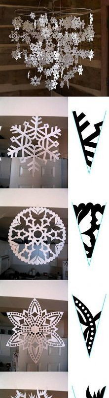 snowflake mobile - from Russian Pinterest