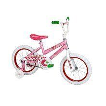 Huffy 16 inch Bike - Girls - Strawberry Shortcake by Huffy. $129.99. Strawberry Shortcake is in the middle of the strawberry patch in her miniature world ready to ride in the giant world of your sidewalk! The Berry Pink steel frame bike features a Strawberry Shortcake and lots of berries decorating the 16 Huffy bike, including the front handlebar pad. The padded seat is fully decorated as well and extra comfortable for sidewalk rides. The bike features an easy to use coaster brak...