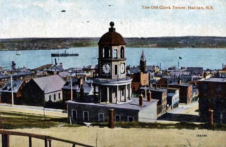 Old Clock Tower_Halifax_Nova Scotia Canada_1903 http://CaperMemories.Com