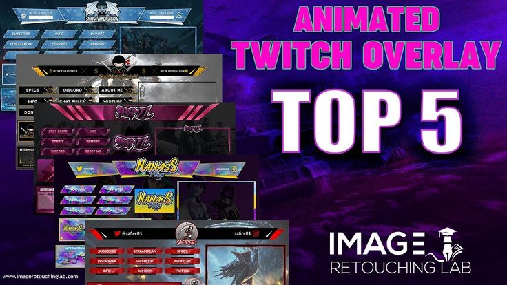 Top 5 Animated twitch overlay pack Image Retouching Lab