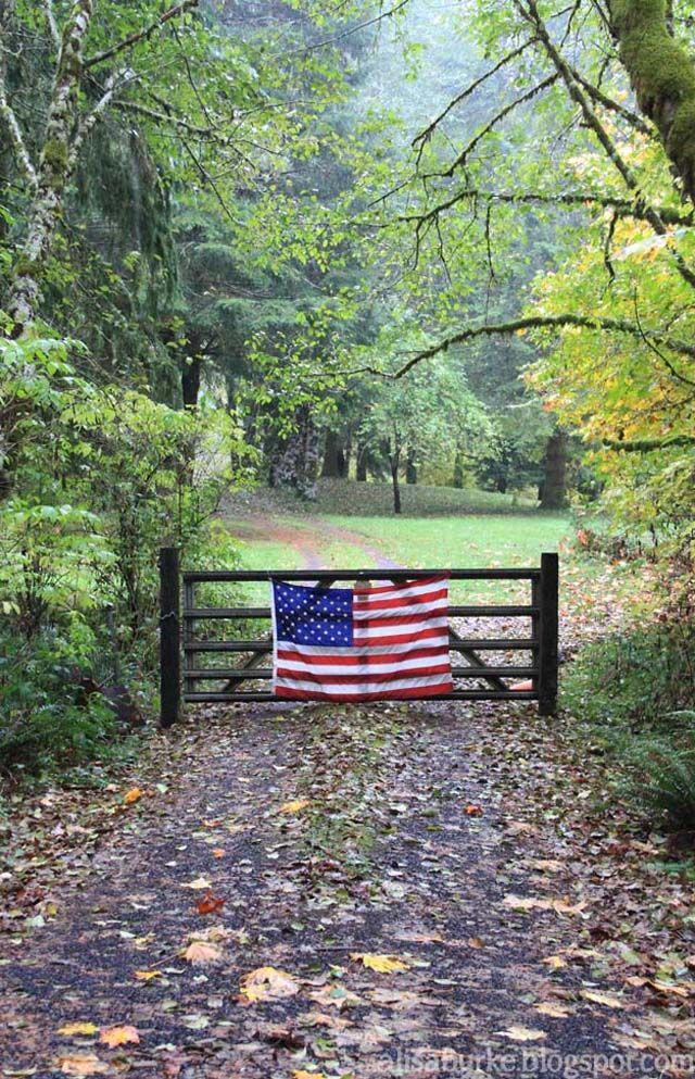 country roads. beautiful.. You were always greeted by Aunt Margaret's flag hanging stripes pointed down from the tree boughs in her circular drive when you arrived for Hunt Cup and 4th of July.