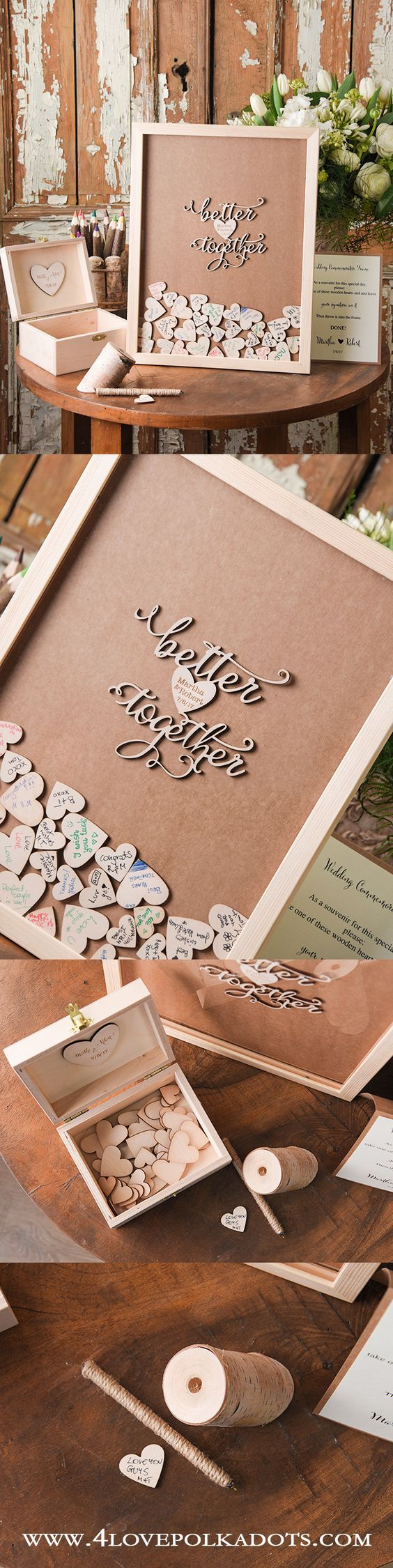 Alternative Wedding Guest Book || @4lovepolkadots