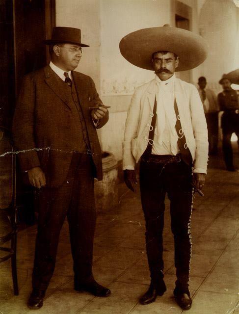 EMILIANO ZAPATA Y MR.GEORGE CAROTHERS EN LAS CONFERENCIAS DE XOCHIMILCO. Casasola_SINAFO 1912