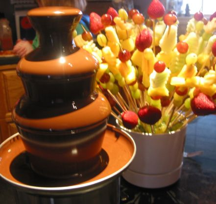 24 Best Chocolate Fountain Dipping Ideas Images On