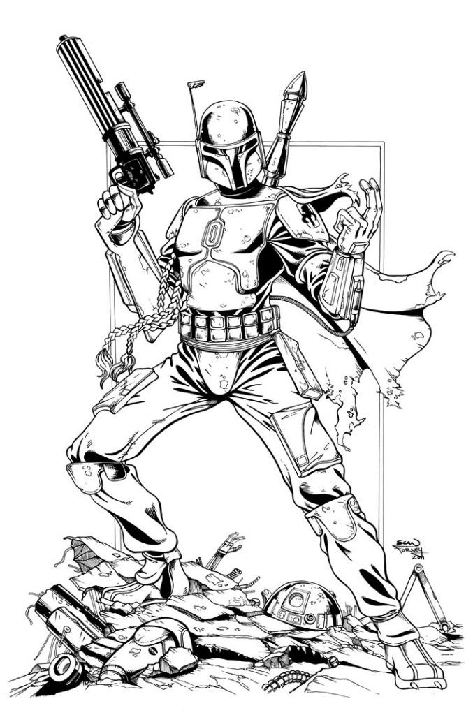 Boba Fett Coloring Pages Coloring pages, Coloring pages