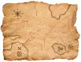 Pirate treasure map. Used under license from Istockphoto.