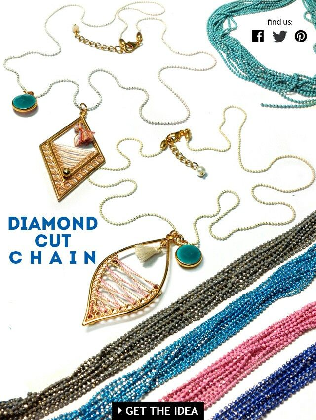 New diamond cut chain Get inspired