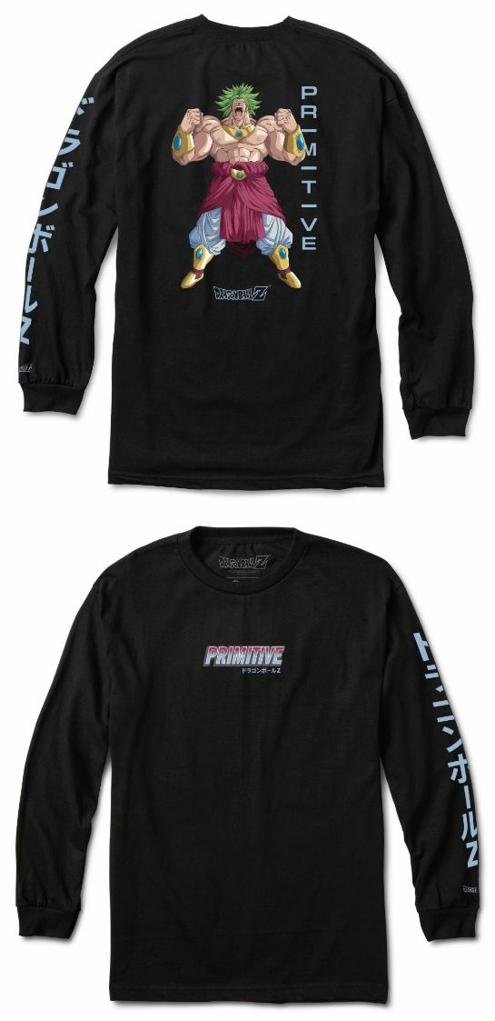 79bf6c7eb15 Clothing Shoes and Accessories 159077  Dragon Ball Z X Primitive  Skateboards Dbz Saiyan Broly Black Longsleeve…