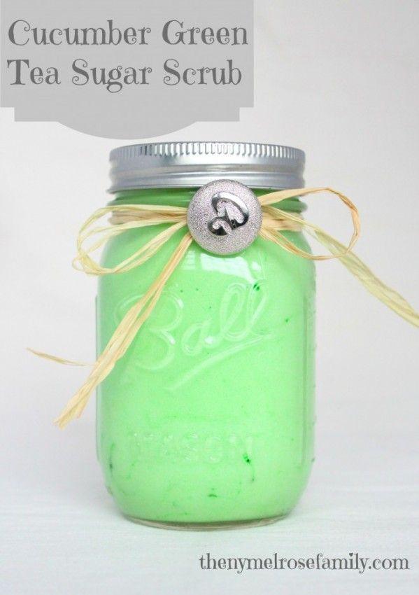 Green tea cucumber scrub